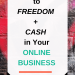 3 Keys to Unlock Freedom + Cash Flow in Your Biz so that You can Stop working so hard in your business, and start making massive money and have more free time!