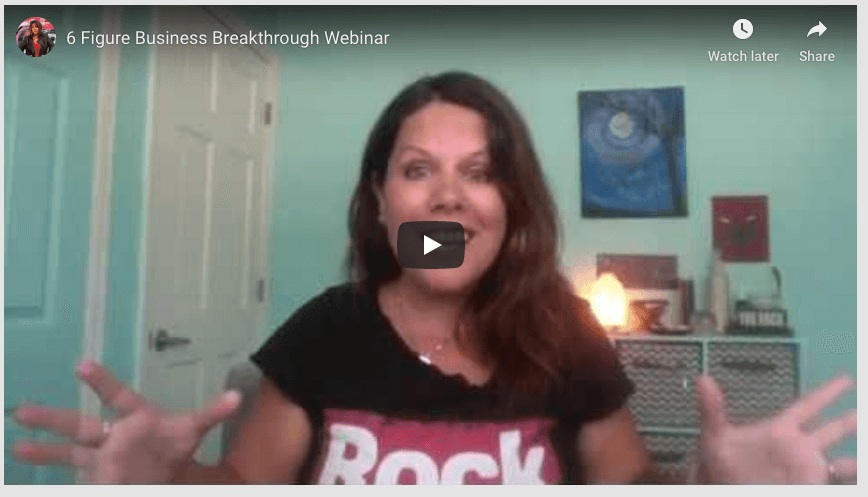 You're invited to the 6 Figure Business Breakthrough webinar